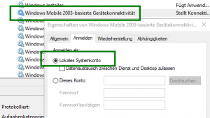 Windows Mobile Gerätecenter funktioniert nach Windows Creator Update nicht mehr